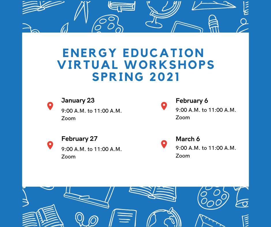 OERB Spring 2021 Virtual Workshops